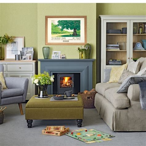 Green Gray Living Room | forest green living room living room decorating ideas