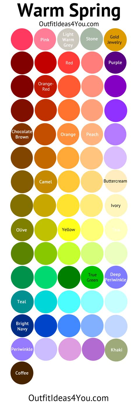 spring color palette warm spring seasonal color palette warm spring spring