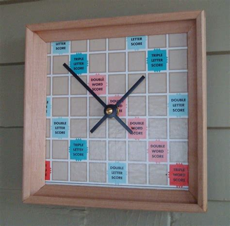 scrabble clock clock scrabble board and racks upcycled by misscourageous