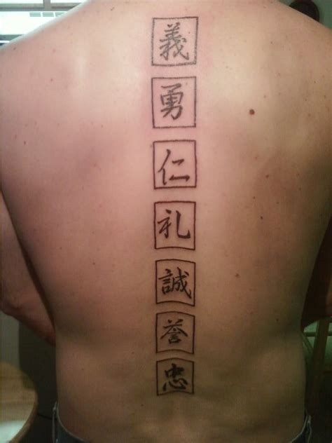 kanji bushido tattoo kanji tattoo 7 virtues by charlescrose on deviantart