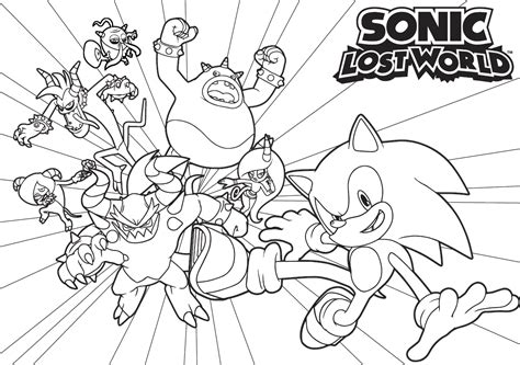 free coloring pages of heros de sonic lost world