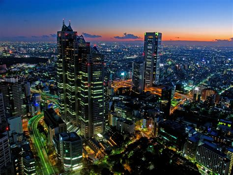 japanese town tokyo japanese city for computer screen wallpaper travel