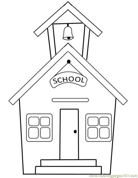 Free Coloring Pages Of School Houses | school house coloring pages coloring home