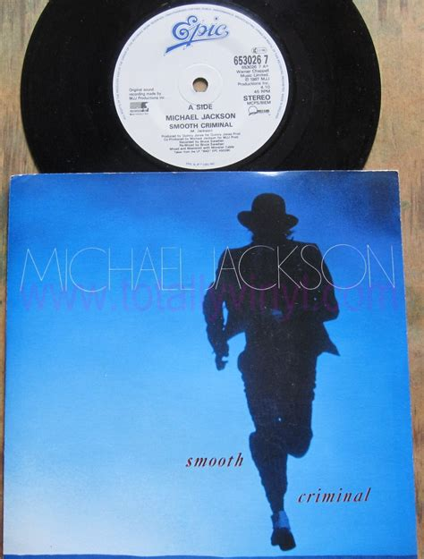 Michael Jackson Criminal Record Totally Vinyl Records Jackson Michael Smooth Criminal 7 Inch Picture Cover Vinyl