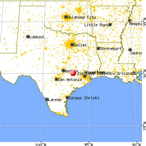 roundtop texas map map of top texas area