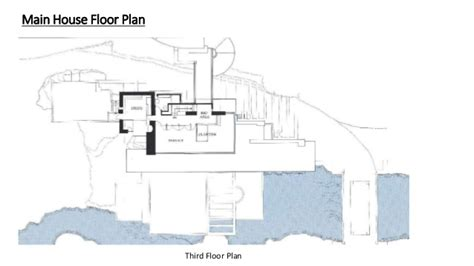falling water house plans falling water floor plans meze blog