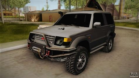 mitsubishi gta mitsubishi pajero 3 door off road for gta san andreas