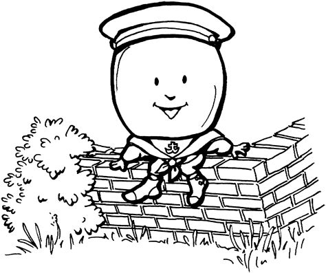 humpty dumpty outline coloring coloring pages