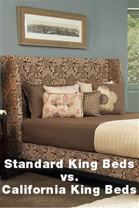 cal king vs king bed standard king beds vs california king beds