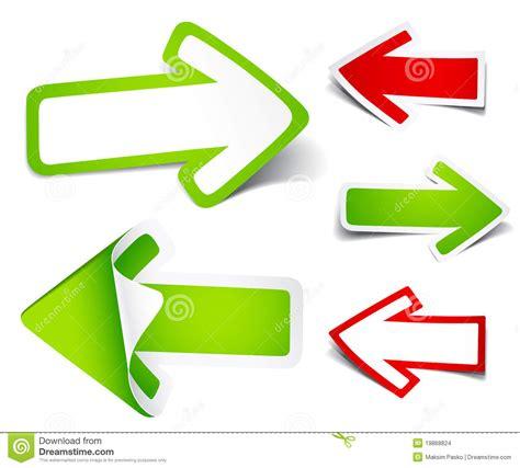 clipart frecce frecce di colore di carta illustrazione vettoriale