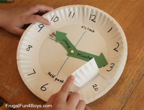 How To Make A Clock With Paper - paper plate clock activity for learning to tell time to