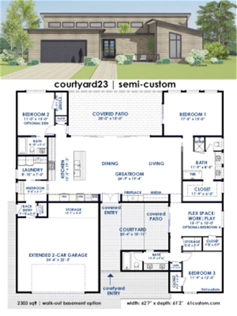 House Plans Single Story by Modern House Plans Floor Plans Contemporary Home Plans