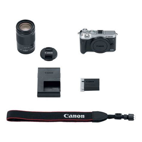 Canon Eos M6 Ef M 18 150mm Silver canon eos m6 kit ef m18 150mm f 3 5 6 3 is stm silver