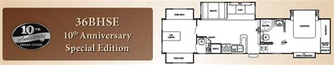 cedar creek rv floor plans cedar creek fifth wheel floorplans large picture