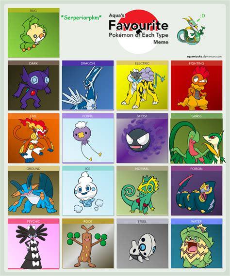 Pokemon Type Meme - pokemon type meme by serperiorpkm2000 on deviantart