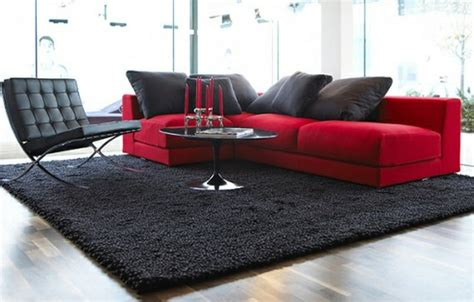 black and red living room red rooms designmind blog