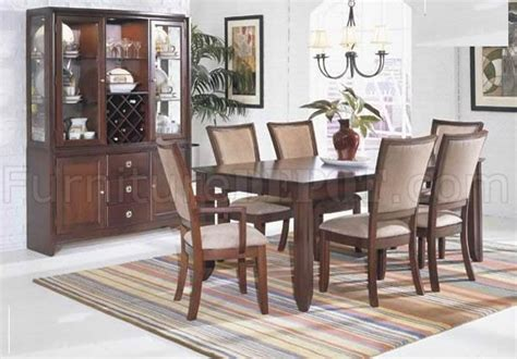 transitional dining room furniture merlot finish transitional dining room table w optional items
