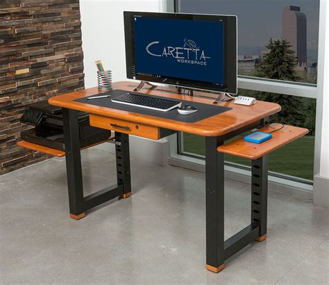 computer desk for small apartment small shelf for loft desk cherry caretta workspace