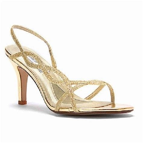 Gold Strappy Shoes Wedding by Touch Ups S Randi Gold Glitter Strappy Slingback