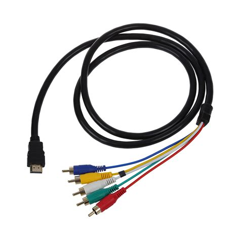 hdmi cable to component 5ft hdmi to 5 rca audio component cable for