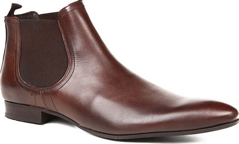 kg by kurt geiger brando chelsea boots in brown for lyst