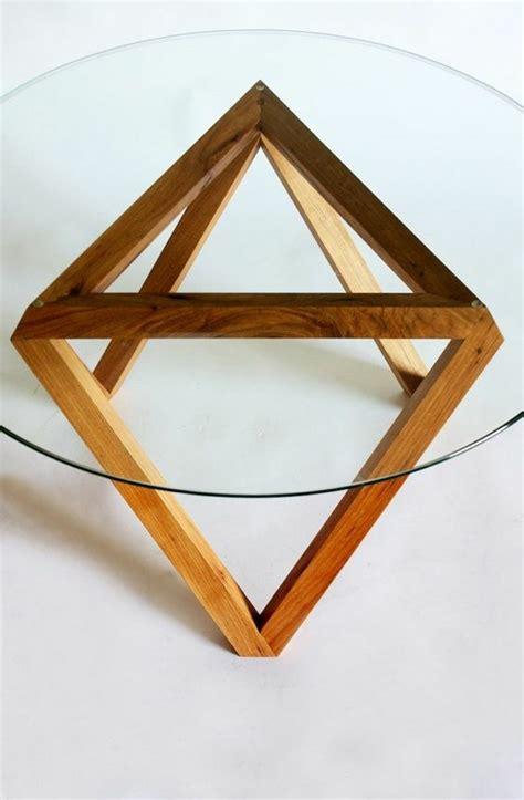 table basse ronde verre et bois table basse en verre pied bois ezooq