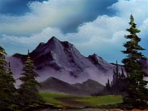 bob ross yellow painting foothills the of painting s30e6