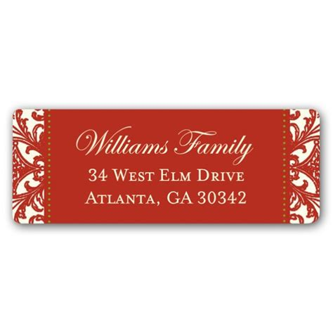 decorative printable address labels decorative square border christmas return address labels