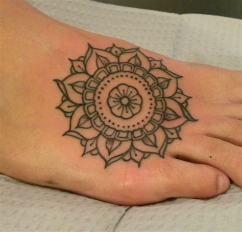 pretty foot tattoo designs beautiful mandala best design ideas