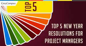 top 5 new year resolutions for project managers