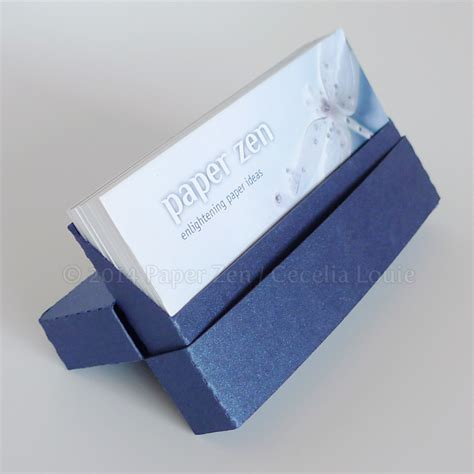 How To Make A Holder Out Of Paper - paper zen business card holders via digital die cutter