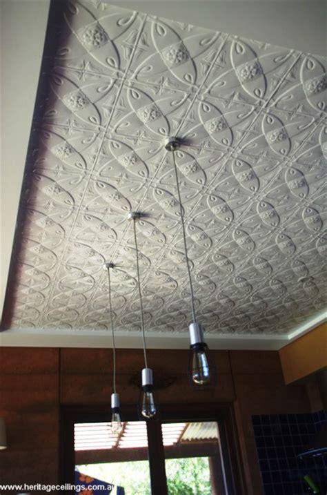 Pressed Metal Ceilings by Pressed Metal Panels Recessed Into Ceiling