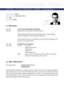 Sample CV   Vitae