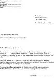 mod 232 le de lettre refuser contre proposition pour l achat d
