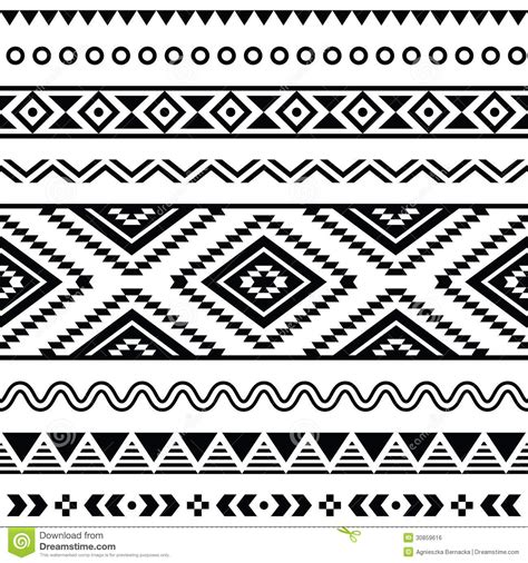 ethnic black of on grey stock vector image tribal seamless pattern aztec black and white background