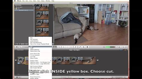imovie tutorial quick imovie quick tut how to cut out remove a section of a