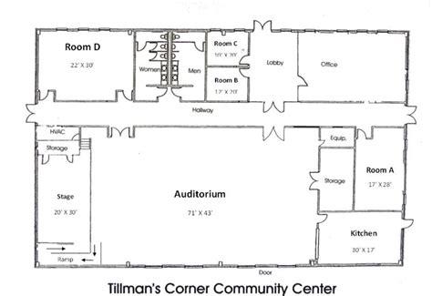 event center layout party venue tillman s corner community center