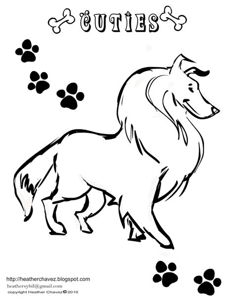 coloring pages of collie dogs creative cuties april 2011