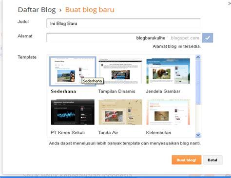 membuat blogspot cara membuat blog terbaru dan terupdate 2014 catatanku