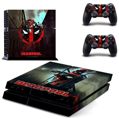 Ps4 Games Sticker by Popular Game Deadpool Skin Sticker For Ps4 System