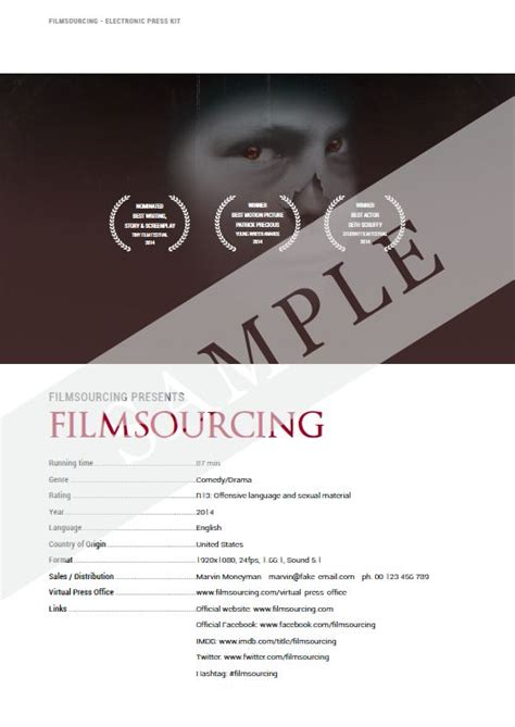 36 Best Images About Filmmaking Production Document Templates On Pinterest Student Centered Epk Template