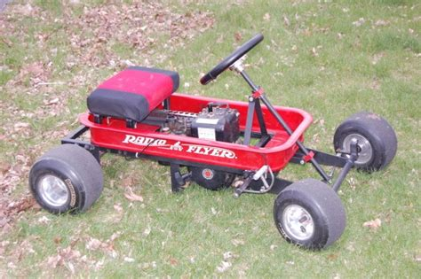 kart wagen a weekend with an motor and a radio flyer wagon ended