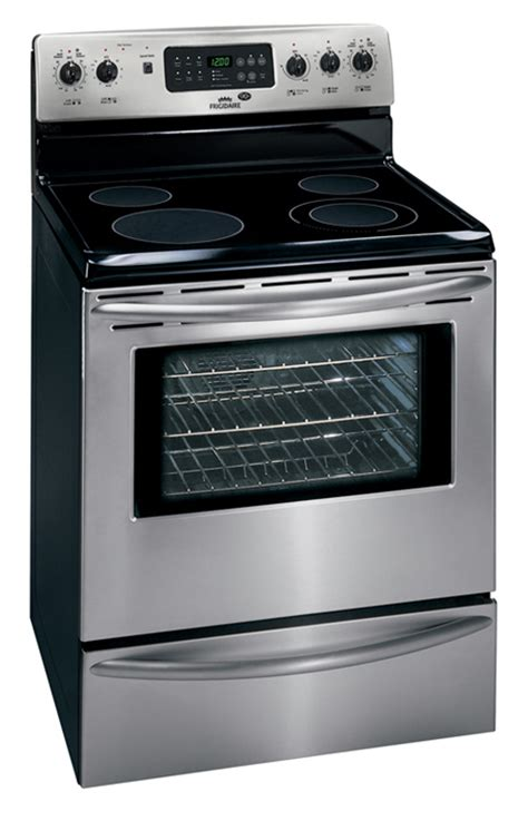 stainless steel stove frigidaire fff384hc mff384kc 5 4 cu ft stainless steel 30 quot electric range