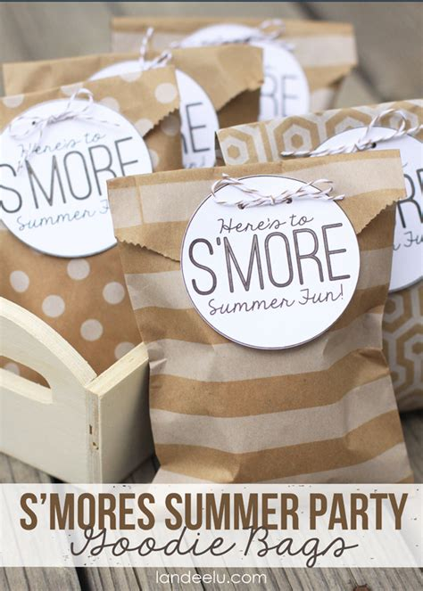Halloween Crafts Treats - smores summer party goodie bags landeelu com