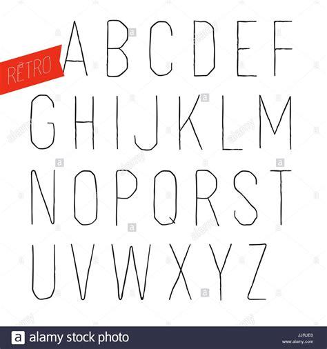 White Outline Font by Handmade Retro Inline Outline Font White Letters On White Stock Vector Illustration