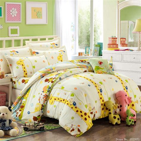 bedding sales online girls kitty giraffe print bedding cotton kids bed linen