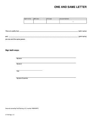 certification letter of same person guarantee letter sle forms and templates fillable