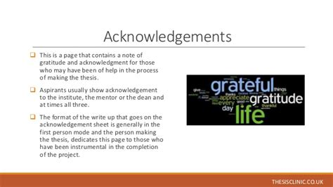 acknowledgement in thesis for dean understanding the structure of phd thesis