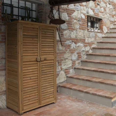 armadi per esterni in legno prezzo armadio da esterno in legno solido