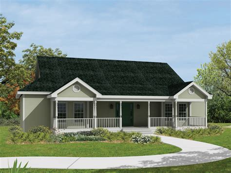 Pictures Of Country Front Porch With Gable On Doublewide House Plans With Wide Front Porch